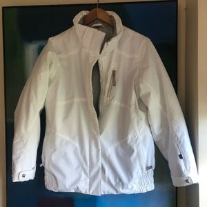 Spyder white girls ski jacket